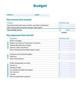Personal Monthly Budget Template Sample Personal Budget Documents In Pdf Word Excel
