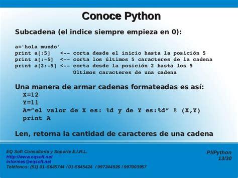 concatenar cadenas en python programaci 243 n en pl python