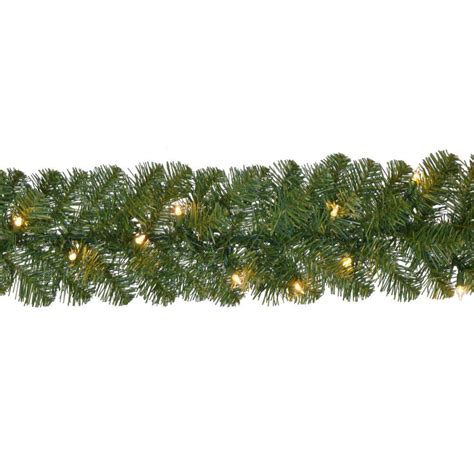 home accents 18 ft pre lit noble fir garland with