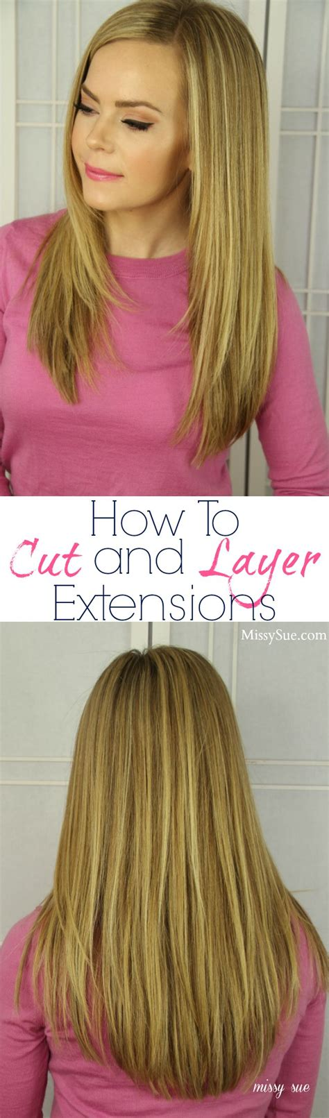 hair extensions that are already layered how to cut and layer hair extensions woman s world