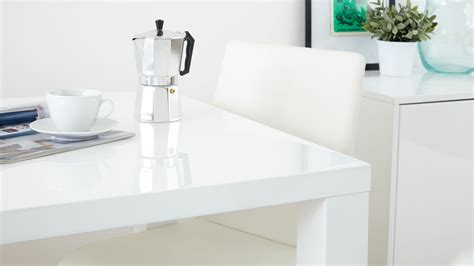 White Gloss Extendable Dining Table Fern White Gloss Extending Dining Table Danetti Uk