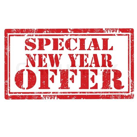 grunge rubber st with text special new year offer
