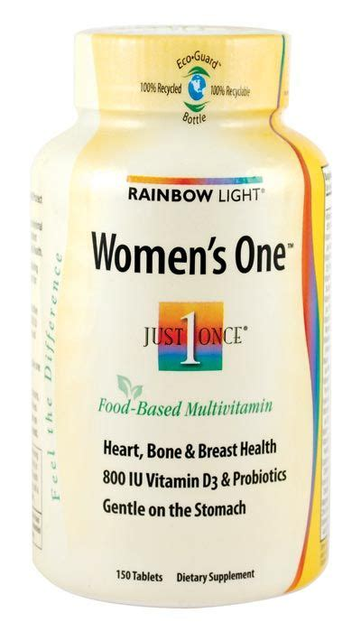 rainbow light s multivitamin rainbow light s just once s one food based