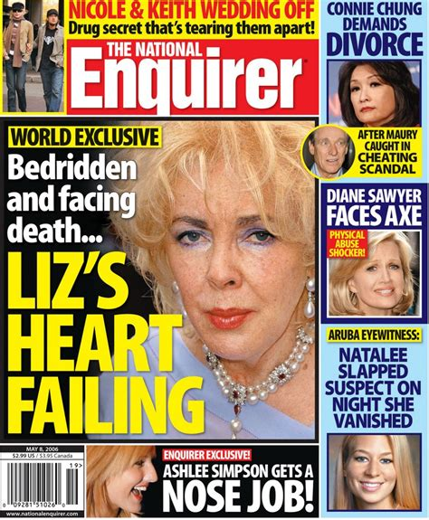 This Weeks National Enquirer Attempts by Tabloid This Week In The National Enquirer
