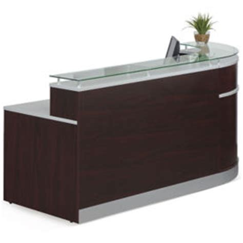Esquire Glass Top Reception Desk Curved Reception Desk Modern Receptionist Stations With High Transaction Counter