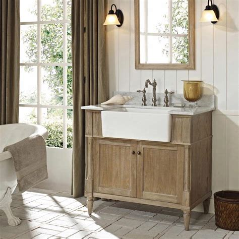 bathroom vanity farmhouse style fairmont designs rustic chic 36 quot farmhouse vanity 142 fv36