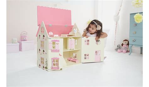 asda dolls house george home wooden dolls house wooden toys george at asda