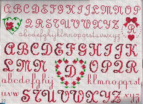 punto croce iniziali lettere alfabeto obl 242 cuoricino iniziali magiedifilo it punto