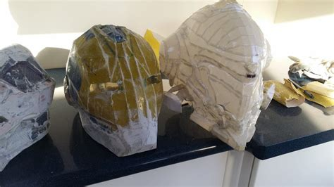 Halo Papercraft Helmet - halo 5 copperhead helmet pepakura by rainyfire on deviantart