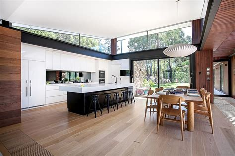 Two Story House Designs House In Stone Glass And Steel Overlooking The Yarra River