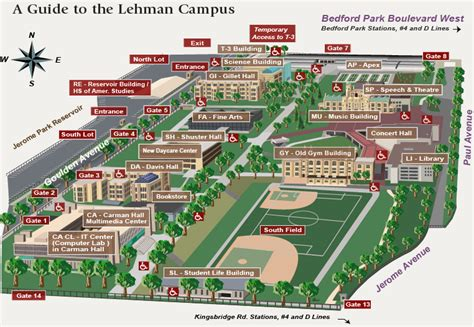 college map maps and directions lehman college