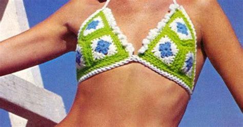crochet that can get wet afghan bikini just don t get it wet oma s haakwerk
