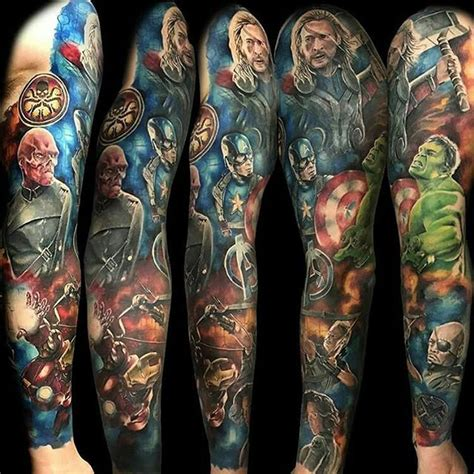 hulk tattoo marvel ironman on instagram