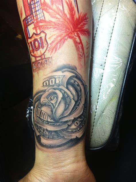 og abel tattoos money drawing