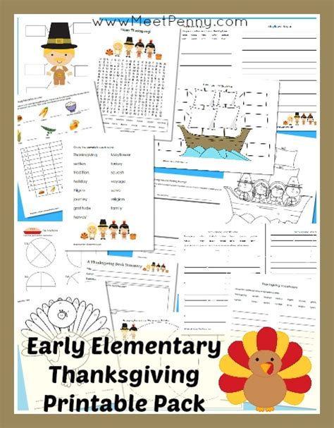 printable educational games for elementary students elementary thanksgiving printable pack meet penny