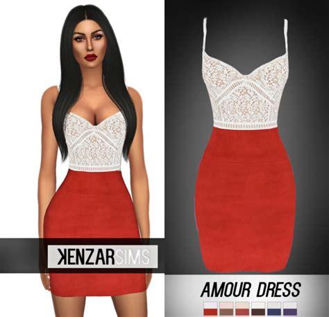 Dress Amour kenzar sims amour dress sims 4 downloads