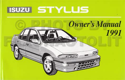 service manual free download of 1992 isuzu stylus owners manual 1991 1992 isuzu stylus