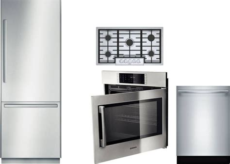 oven cooktop package bosch benchmark 4 appliance package with b30bb830ss