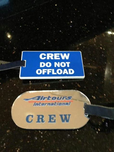 international cabin crew cabin and tags on