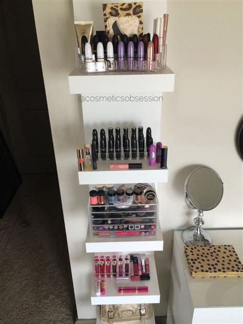 Shelf For Makeup by Makeup Storage And Organization Ikea Lack Shelf Unit Malm Dressing Table Cosmeticsobsession