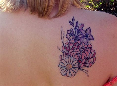 november flower tattoo 20 beautiful aster flower designs pictures