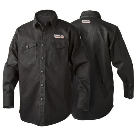 lincoln black retardant welding shirt k3113 for