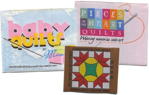 Woven Quilt Labels by Custom Woven Quilting Labels