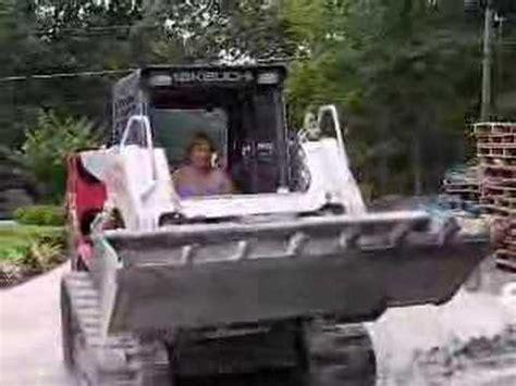 bobcat 463 stunts toyota skid steer driving on the road doovi