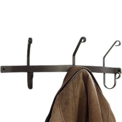 Mounted Coat Rack by Wrought Iron Coat Rack Wall Mounted Sided 3 Hook Design