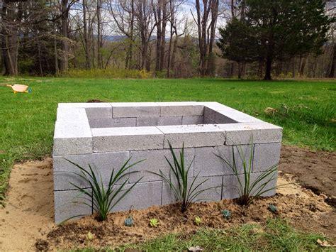 Cinder Block Firepit Cinder Block Pit 50 In Materials Design Ideas For Home Pi