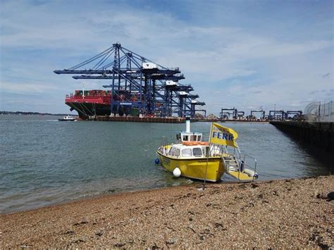 harwich boat trips view from ferry felixstowe cargo ships picture of