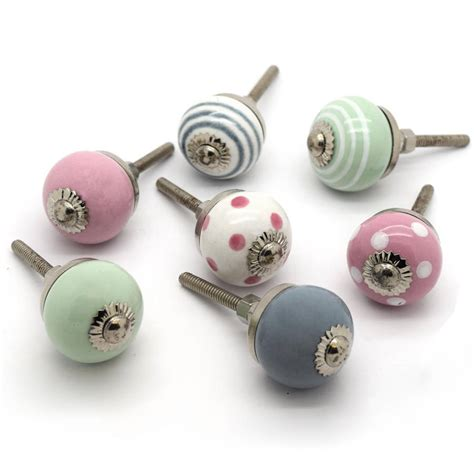 Miniature Drawer Handles by Small Ceramic Cupboard Door Knobs By Pushka Home