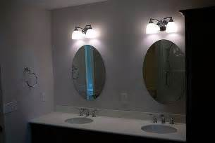 Vanity Lights Oval Mirror Brilliant Bathroom Vanity Lights Satin Nickel On Each Oval