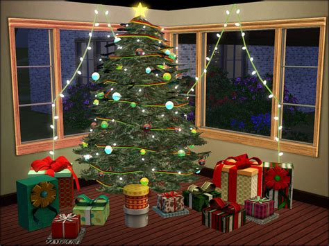 christmas decorations on sims 3 sim man123 s tree 2012