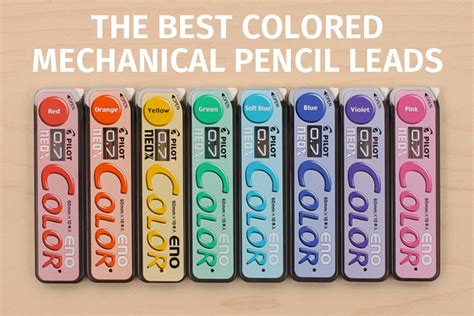 lead color guide to colored mechanical pencil leads jetpens