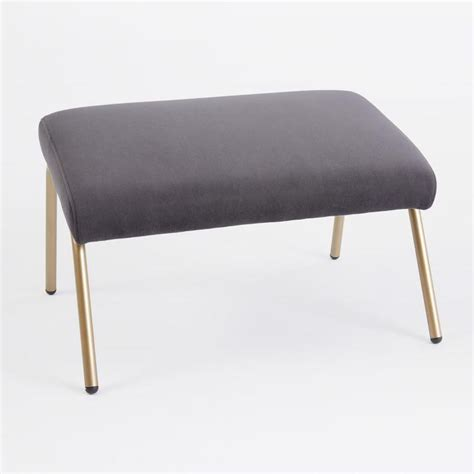 ottoman with gold legs sydney velvet nail button cube black i target