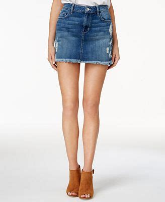 Ripped Denim Mini Skirt guess stella cotton ripped denim mini skirt skirts