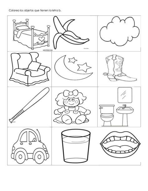 imagenes que empiecen con la letra b para recortar colorea los objetos que tienen la letra b