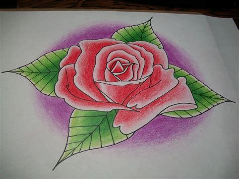 imagenes navideñas para dibujar con color dibujo de rosa a lapices de color taringa
