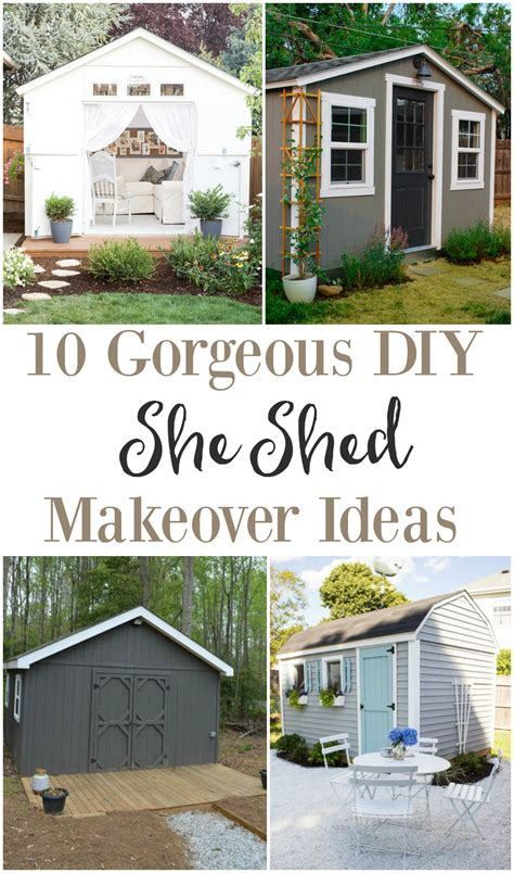 diy she shed she shed makeover ideas the weathered fox