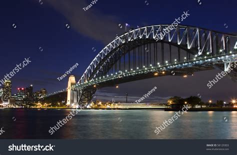 Sydney Australia Search Harbour Bridge Sydney Australia Sky Highlighted Illumination Ls Stock Photo