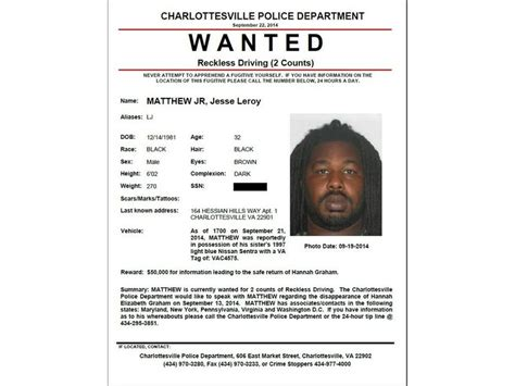 police issue wanted poster for person of interest in