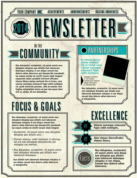 6 Elements Of A Great Email Newsletter Etmg Company Newsletter Template