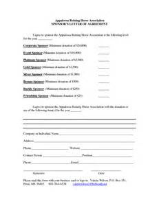 templates for sponsorship letters corporate sponsorship form template search results