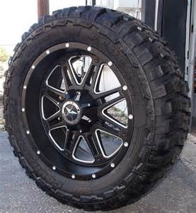 20 In Truck Wheels 20 Quot Matte Black Wheels Tires Dodge Truck Ram 1500 20x9