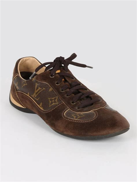 Lv Sneakers Monogram Mix Mirror Quality louis vuitton globe trotter monogram canvas sneakers 39