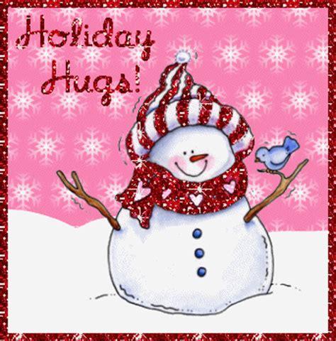 holiday hugs snowman christmas animated gif