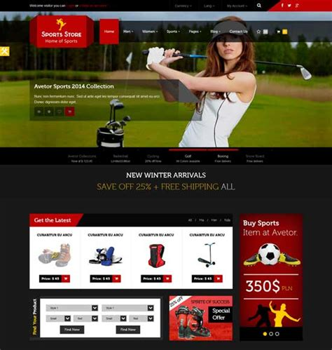 50 Best Sport Website Templates Free Premium Freshdesignweb Best Sports Website Templates