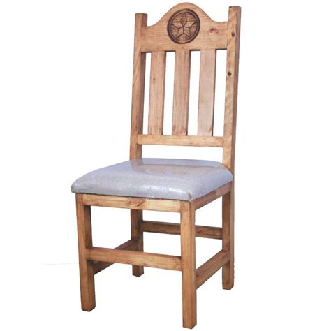 Lone Rustic Furniture rustic pine collection lone chair w cushion sil538