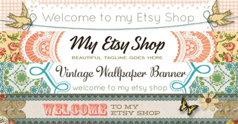 free etsy banner template freebie images with starsunflower studio free pretty things for you